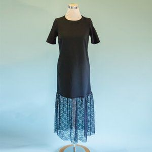 ASOS Size 6 Blue Lace Bottom Maxi Dress NWT